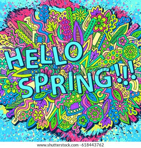 Zentangle Doodles Wallpaper Tribal Elements Ornament Spring Floral Texture