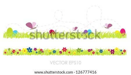 Spring vector grass - stock vector