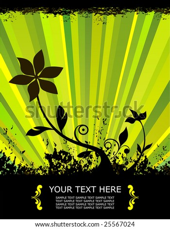 spring vector illustration of a flower growing from the ground - stock vector