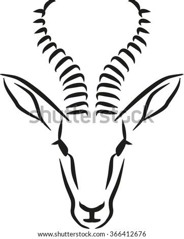 springbok head stock images royalty free images vectors shutterstock. Black Bedroom Furniture Sets. Home Design Ideas