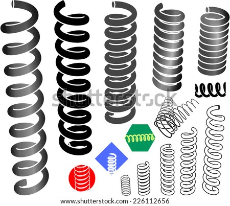 Springs in the graphic set. - stock vector