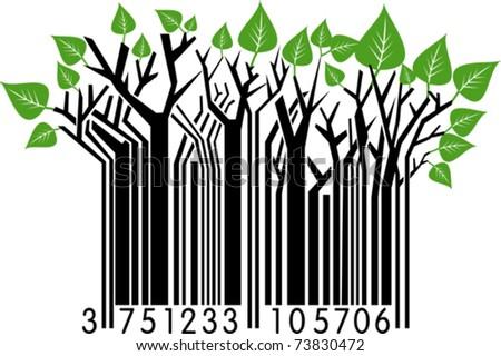 Springtime Barcode - stock vector