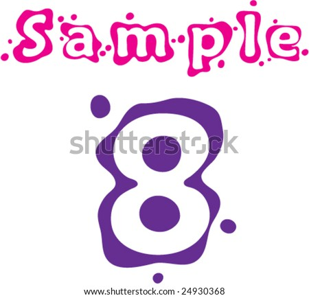 Sprinkled Number Eight - stock vector