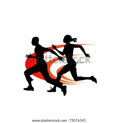 Sprinters - stock vector