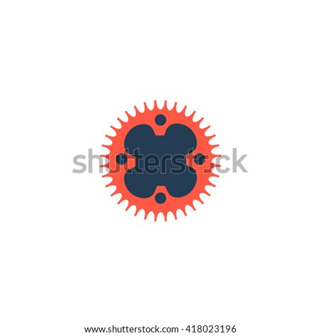 Sprockets Simple flat vector icon - stock vector