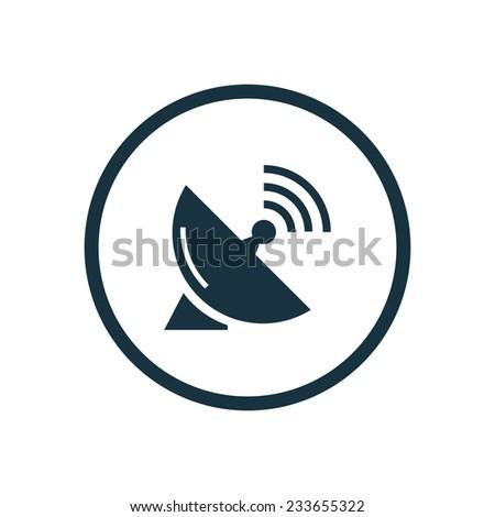 sputnik antenna icon on white background  - stock vector