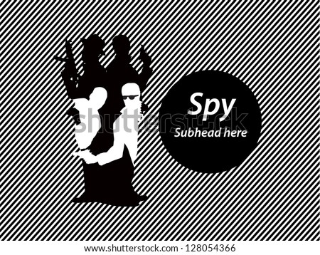 Spy in spy - stock vector