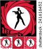 spy  silhouette of secret agent....