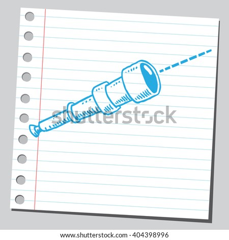 Spyglass - stock vector