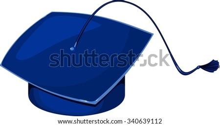 square academic cap - stock vector