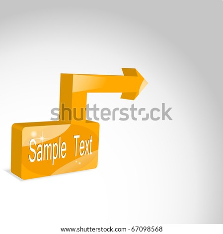 Square  and a pointer to your item. 3d. Vector - stock vector