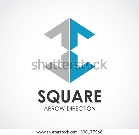 Square Arrow Office Direction Abstract Vector Stock Vector 390177568