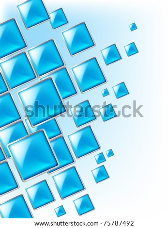 Square background abstract of techno style. Illustration for design. - stock vector