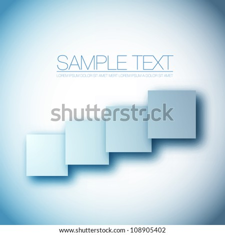 Square blank background - Vector Design Concept - stock vector
