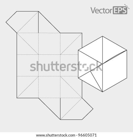 Square box closes automatically - stock vector