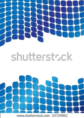 Square Dots Vector Background - stock vector
