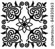 Square element of Arab ornament - stock vector