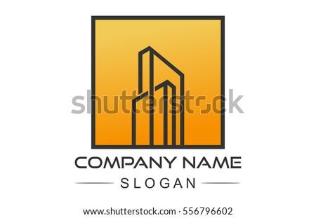 Square Flat Architecture Logo