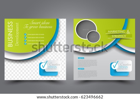 Vector Template Set Flyer Cover Leaflet Stock Vector 483637351