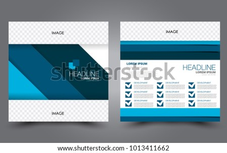 Square Flyer Template Simple Brochure Design Stock Vector 2018