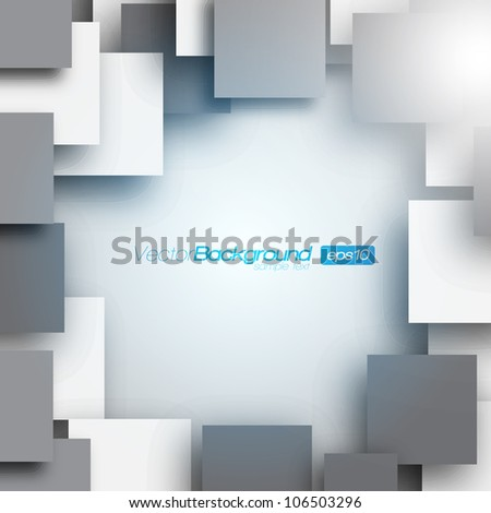 Square frame background - Vector Design Concept - stock vector