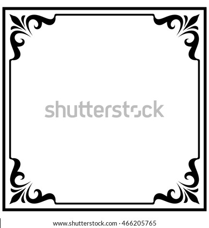 Square Frame Border Beautiful Vector Vintage Isolated
