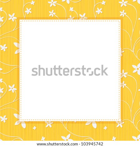 square frame for text on a yellow flowery background