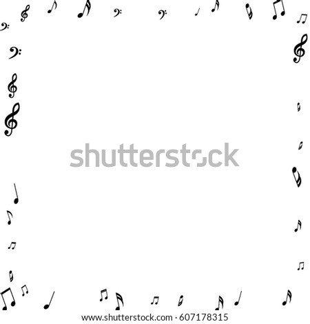 Square Frame Music Notes Treble Bass Stock Vector HD (Royalty Free ...