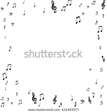 Square Frame Music Notes Treble Bass Stock Vector 626483075 ...