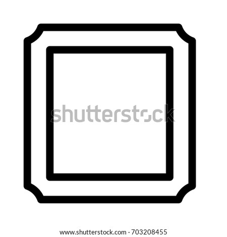Square Frame Outline Stock Vector HD (Royalty Free) 703208455 ...