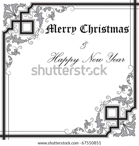 square frame with place for your text - stock vector