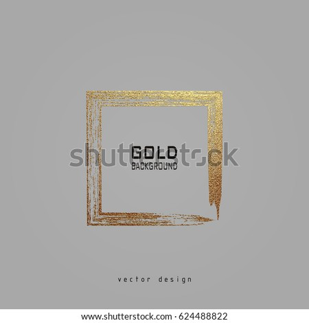 Square Golden Frame On Grey Background Vector de stock624488822 ...