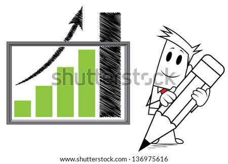 square guy-growth chart - stock vector