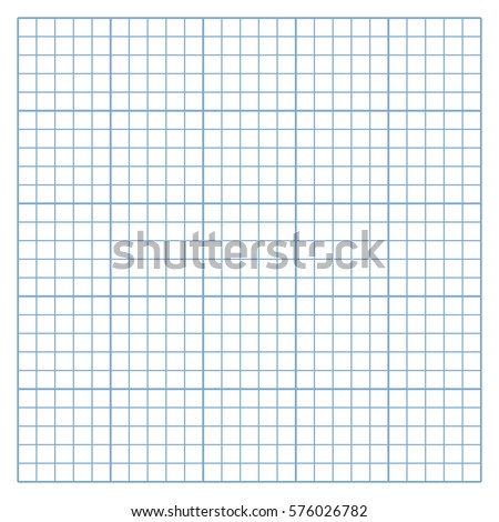 Square Mesh White Graph Paper Template Stock Vector