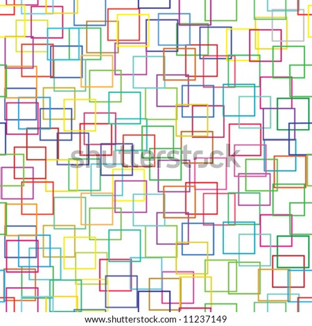 Square Patterns - stock vector