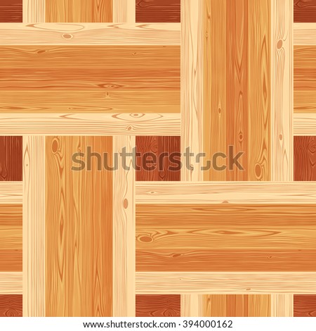 Square platting parquet seamless floor texture. Editable vector pattern in swatches. - stock vector