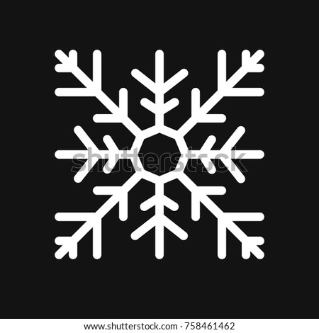Square snowflake. Flat icon Vector illustration. EPS-10