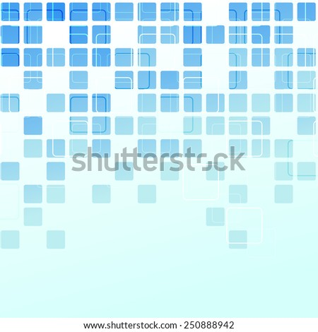 Square tile abstract modern background editable template in blue color. Vector illustration - stock vector