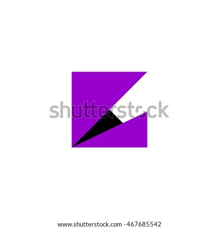 square triangle logo vector