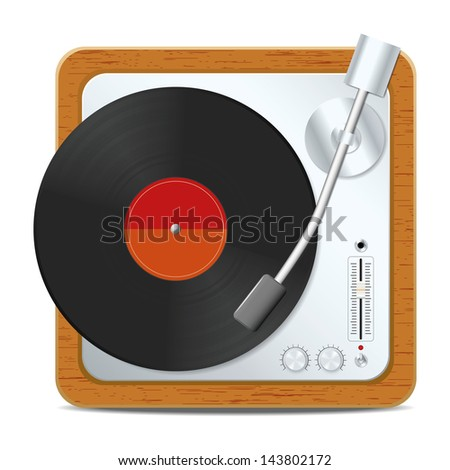 Square turntable. Vector illustration - stock vector