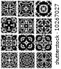 square vector patterns - stock vector