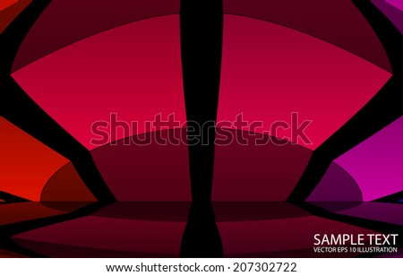 Squared abstract vector background  illustration - Abstract vector reflected rainbow    template - stock vector