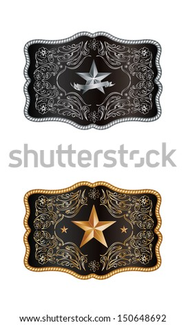 Squared buckle - stock vector