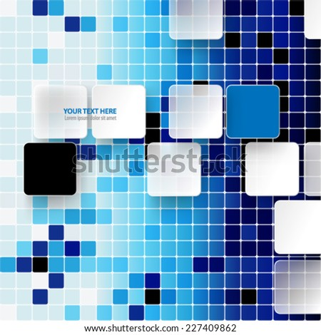 Squares and Tiles Background
