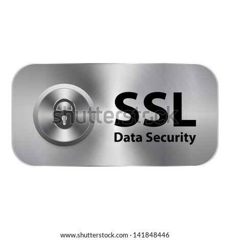 SSL data security - stock vector