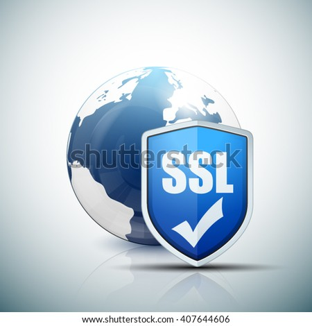 SSL Protection Shield - stock vector