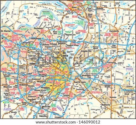 Missouri Map Stock Images RoyaltyFree Images Vectors - Missouri road map