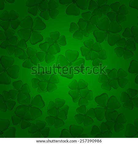 St. Patrick Day Background on green. Vector illustration - stock vector