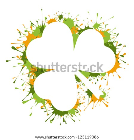 St  Patrick Day frame - stock vector