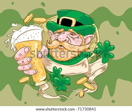 St. Patrick ideal printing. - stock vector